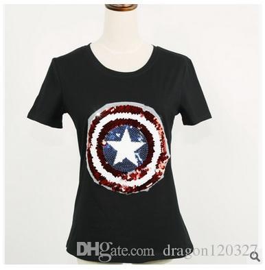 t shirt femme captain america