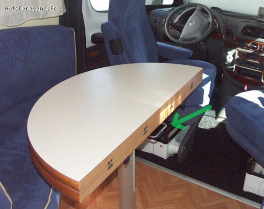 table pour camping car interieur