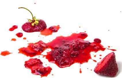 tache de fruit sur tissu