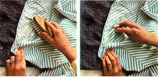 taches de moisissure sur textile