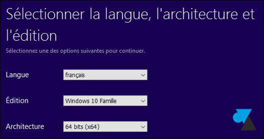 télécharger windows 10 clé usb