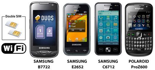 telephone samsung double carte sim