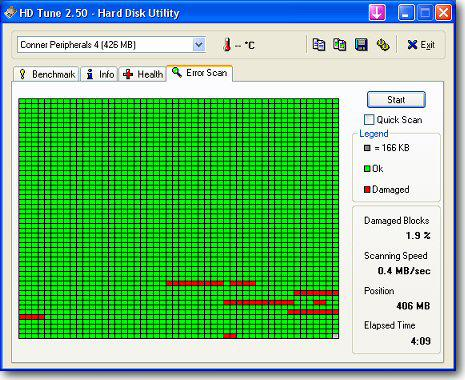 test disque dur