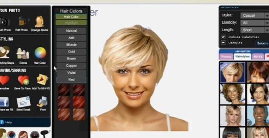 tester une coiffure femme
