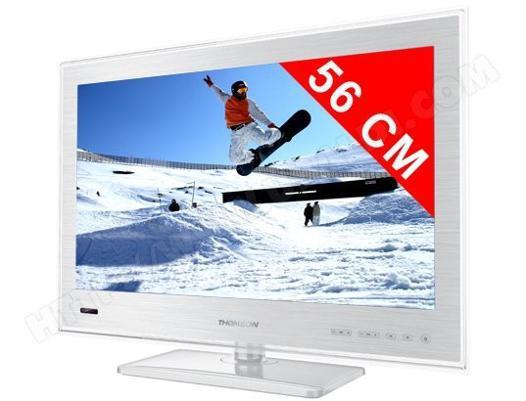 tv 22 pouces blanc