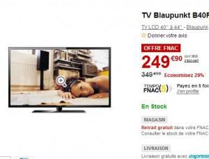 tv pas cher 40 pouces