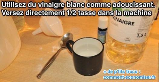 utilisation du vinaigre blanc pour le linge