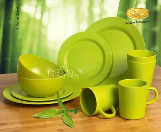 vaisselle en bambou lavable