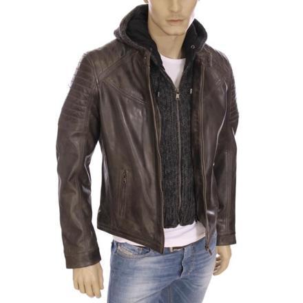 veste cuir homme redskins