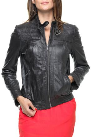 veste en cuir femme kaporal