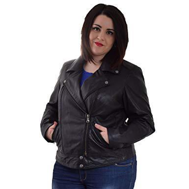 veste en cuir grande taille femme