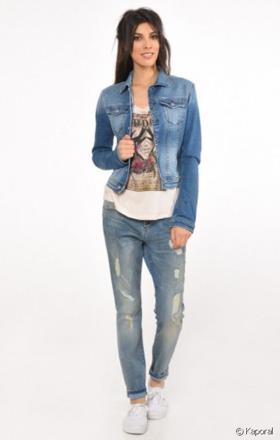 veste en jean femme kaporal