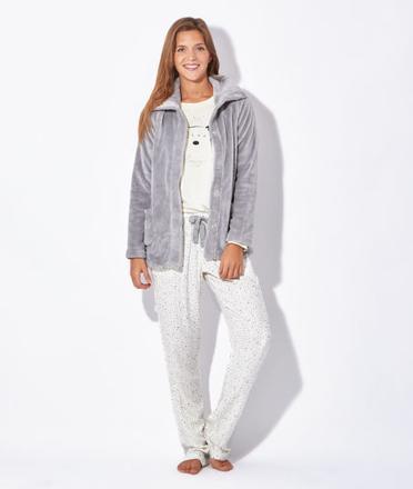 veste pyjama polaire femme