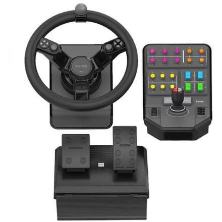 volant farming simulator pédalier panneau de commandes