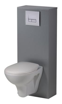 wc suspendu gris